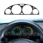 Carbon Fiber Interior Instrument Dashboard Cover Dashboard Panel Frame Sticker for BMW 3 Series E46 (1998-2005)