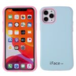 IFACE MALL Macaron Series PC + TPU Hybrid Phone Shell for iPhone 11 Pro 5.8 inch – Blue/Pink