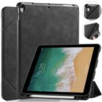 DG.MING See Series Cover Auto Wake & Sleep Leather Shell for Apple iPad Air 10.5 inch (2019) – Black
