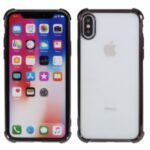 Electroplating Drop Resistant TPU Shell for iPhone XS Max 6.5 inch – Black