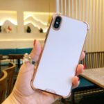 SULADA Electroplating Frame Soft TPU Phone Cover for iPhone XS Max 6.5 inch – White