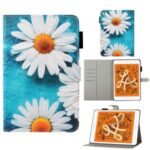 Pattern Printing Leather Wallet Case for iPad mini (2019) 7.9 inch – Daisy Flower