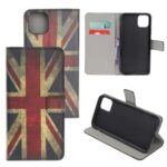 Pattern Printing Wallet Leather Phone Cover Case for iPhone 12 Pro Max 6.7-inch – UK Flag