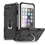 Detachable 2-in-1 PC + TPU Protective Shell with Kickstand for iPhone 8 Plus/7 Plus 5.5 inch – Black