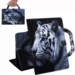 Handheld Style Pattern Printing Wallet Stand Leather Tablet Protective Case for Samsung Galaxy Tab A 8.4 (2020) – Tiger