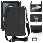 Honeycomb Texture EVA Tablet Combo Case with Shoulder Strap for Samsung Galaxy Tab S6 Lite P615 P610 – Black