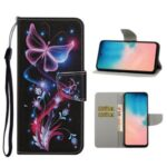 Pattern Printing Flip Leather Cover Wallet Cell Phone Case for Samsung Galaxy A51 SM-A515 – Magic Butterfly