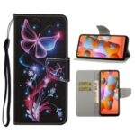 Pattern Printing Cover Flip Leather Wallet Stand Protective Case for Samsung Galaxy A11 – Magic Butterfly