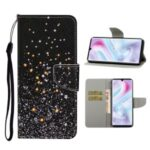 Pattern Printing Flip Leather Cover Wallet Phone Case for Samsung Galaxy A31 – Glittery Element