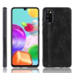 PU Leather Coated PC + TPU Hybrid Cover Case for Samsung Galaxy A41 (Global Version) – Black
