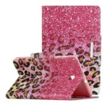 Pattern Printing Smart Leather Wallet Case for Samsung Galaxy Tab A 8.0 (2018) T387 – Leopard