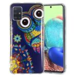Noctilucent IMD TPU Cell Phone Case for Samsung Galaxy A51 5G SM-A516 – Owl Pattern