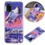 Noctilucent Patterned IMD TPU Shell for Samsung Galaxy A31 – Howling Wolf