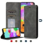 Auto-absorbed PU Leather Cell Phone Case with Card Slots for Samsung Galaxy A31 – Black