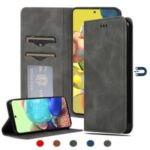 Auto-absorbed Business Style PU Leather Cover for Samsung Galaxy A71 5G SM-A716 – Black