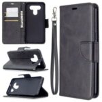 Wallet Leather Case with Stand Shell for LG K51 – Black