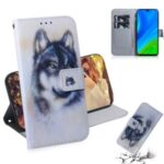 Pattern Printing Leather Stand Case with Card Slots Shell for Huawei P smart 2020 – Wolf
