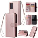 PU Leather Wallet Mobile Phone Shell for Huawei P40 – Rose Gold