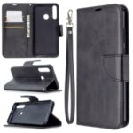 PU Leather Wallet Stylish Case for Huawei Y6p – Black