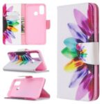 Pattern Printing Leather Wallet Stand Case for Huawei P smart 2020 – Colorful Petals