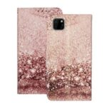 Pattern Printing Shell Leather Wallet Cell Phone Cover for Huawei Y5p – Gold