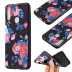 Pattern Printing Soft TPU Back Shell for Huawei Y6p – Red Flowers