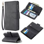 Zipper Pocket Detachable Leather Wallet Stand Mobile Phone Shell for Huawei Y5 (2019)/Honor 8S – Black