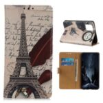 Pattern Printing Case PU Leather Wallet Stand Shell for Huawei Enjoy 20 Pro/Enjoy Z 5G – Tower and Letters