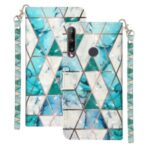 Light Spot Decor Patterned Magnetic Leather Wallet Case for Huawei Y7p/P40 lite E – Geometric Pattern