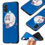 Pattern Printing Embossed TPU Phone Back Shell for Honor 9A – Owl and Moon