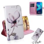 Pattern Printing Leather Stand Case Wallet Shell for Motorola Moto G8 Power Lite – Beautiful Flower