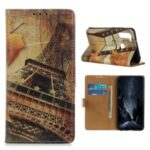 Protective Pattern Printing Case Wallet Leather Stand Cover for Motorola Moto One Fusion Plus – Eiffel Tower