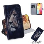 Pattern Printing PU Leather Wallet Case for Xiaomi Mi Note 10 Lite – Lion