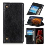 Nappa Texture PU Leather Wallet Protective Case for Xiaomi Redmi 9 – Black