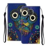 Embossed Patterned Wallet Leather Phone Case for Xiaomi Redmi Note 9S/9 Pro/9 Pro Max – Owl