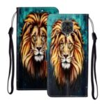 Embossed Patterned Wallet Leather Phone Case for Xiaomi Redmi Note 9S/9 Pro/9 Pro Max – Lion