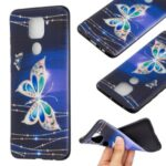 Printing Embossed TPU Phone Case for Xiaomi Redmi Note 9/Redmi 10X 4G – Colorized Butterfly