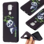Printing Embossed TPU Phone Case for Xiaomi Redmi Note 9/Redmi 10X 4G – Panda Pattern