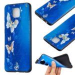 Printing Embossed TPU Phone Case for Xiaomi Redmi Note 9/Redmi 10X 4G – Butterfly Pattern