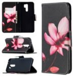 Pattern Printing Wallet Stand Leather Cover for Xiaomi Redmi 9 – Vivid Flower