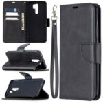 Wallet Stand PU Leather Phone Protection Case for Xiaomi Redmi 9 – Black