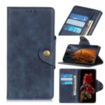 PU Leather Wallet Stand Magnetic Phone Case for Xiaomi Redmi 9A – Blue
