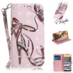 Pattern Printing Light Spot Decor Leather Wallet Casing with Lanyard for Nokia 5.3 – High-heel
