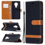 Assorted Color Jeans Cloth Leather Shell for Nokia 5.3 – Black