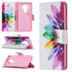 Pattern Printing PU Leather Wallet Case for Nokia 5.3 – Colorful Petals