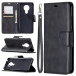 PU Leather with Wallet Stylish Stand Case Cover for Nokia 5.3 – Black