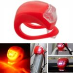Bicycle Light Front and Rear Silicone LED Bike Light Multi-Purpose Water Resistant Headlight Taillight for Cycling Safety – Red