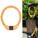 Mountain Bike Bicycle Four-digit Password Lock – Orange