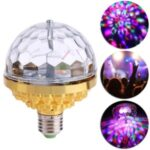 KTV RGB Stage Light 6-Color E27 LED Magic Ball Light – Gold
