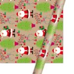 Christmas Kraft Wrapping Paper Roll, Size: 50 x 70cm – Santa Claus